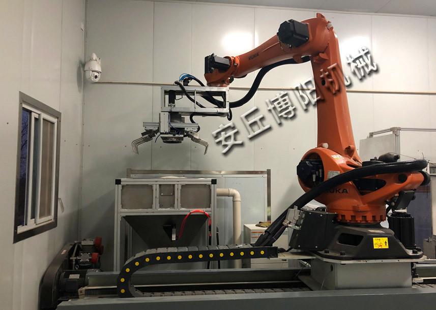 拆垛机器人+齿刀破包器