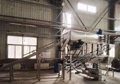 片碱拆包管链输送生产线现场